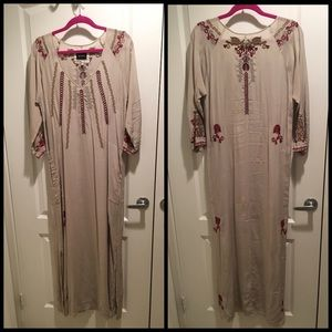 BIYA by Johnny Was Long Silk Tunic Dress